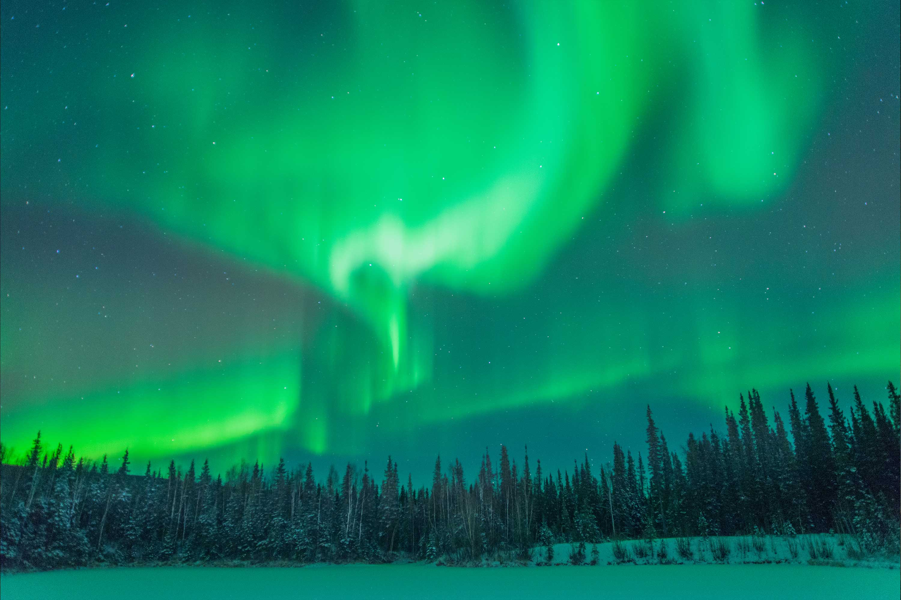 Aurora on the Steese Highway